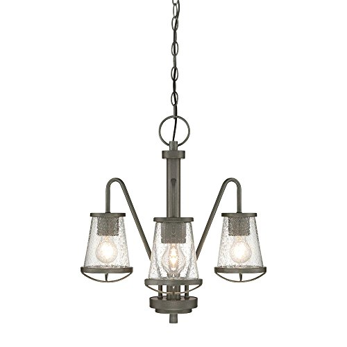 (Designers Fountain 87083-WI Darby 3 Light Chandelier - Weathered Iron)