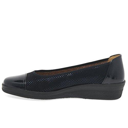 Basic Derby Cordones Comfort para Dot Gabor de Patent Zapatos Ocean Mujer CSOWX5q