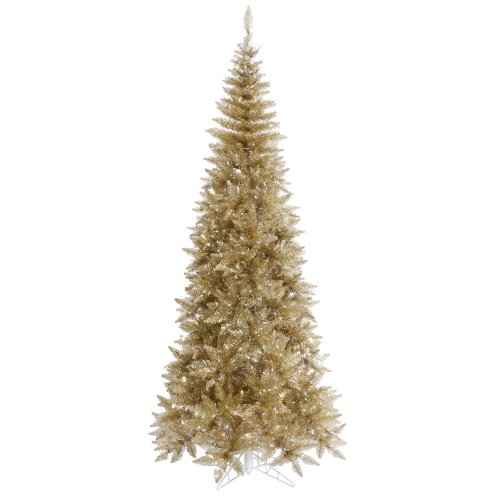 Vickerman Champagne Tinsel Fir Christmas Tree ()