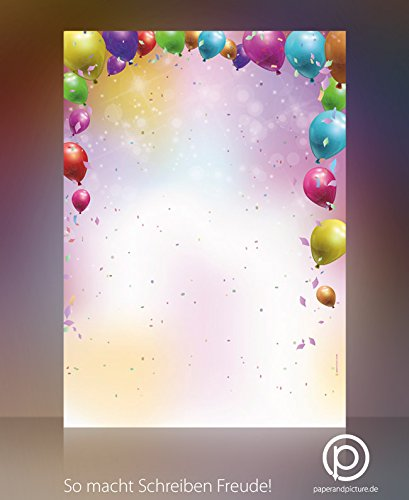 Party Feste Carnevale Coriandoli di carta decorata, 100fogli DIN A4, 90G/MQ paperandpicture