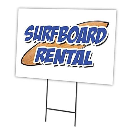 """Alquiler de tablas de surf 12 """"x16 Yard Sign cartucho Juego al aire libre"""