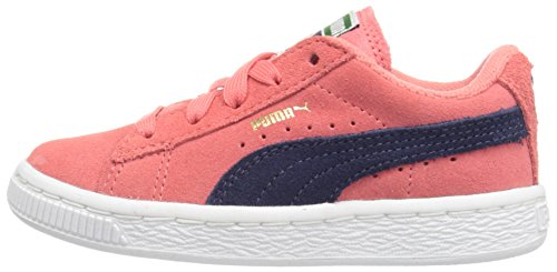PUMA Girls' Suede Inf Sneaker, Porcelain Rose/Peacoat, 5 M US Toddler by PUMA (Image #5)