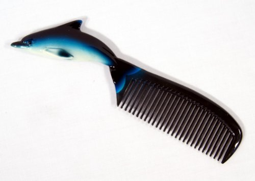 Hand Painted Blue Dolphin Comb (Painted Dolphin)