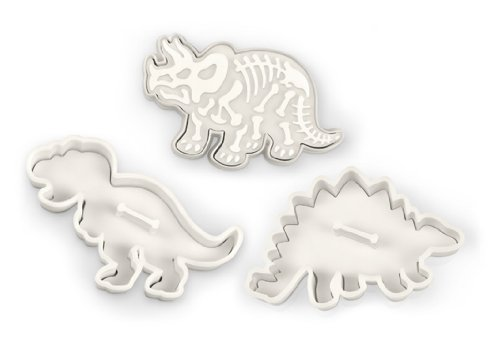 Fred DIG-INS Dinosaur Fossil Cookie Cutter/Stampers, Set of 3 -