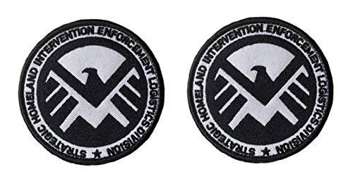 Antrix 2 Pcs Tactical Marvel Comics Avengers Agents of Shield Logo Applique Patch Hook and Loop Military Agents of Shield Badge Morale Patch - Dia.3.15