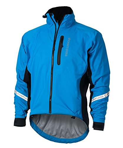 Showers Pass Waterproof Breathable Men's Elite 2.1 Cycling Jacket (Blue - Large)