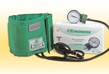 eurometer a color Tensiómetro aneroide Manual a dos tubos con llave de ajuste y bolso).