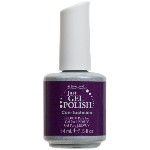 IBD Just Gel CON-FUCHSION Soak Off Purple Nail Polish UV Man