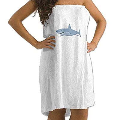 LXXYZ Cartoon Shark Prints Bath Towel Wrap Womens Spa Shower Wrap Towels Swimming Shawl Bathrobe Cover Up Ladies