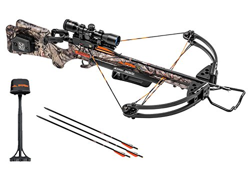 (Wicked Ridge Invader G3 Crossbow Package with 3x Multi-Line Scope, 3 Carbon Arrows, and Quiver )