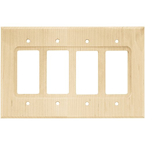 Franklin Brass W10851-UN-C Square Quad Decorator Wall Plate/Switch Plate/Cover, Unfinished (Gfci Quad)