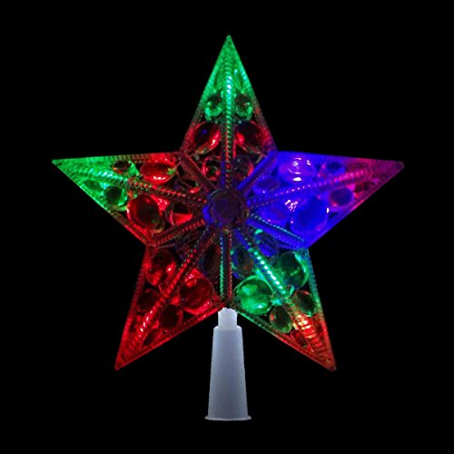 Ponteira Pisca Pisca Estrela Led Colorida Arvore Natal Decoracao Casa (JA-81120)