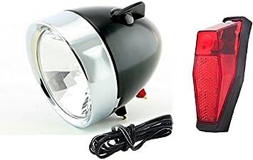 luz de bicicleta dinamo XL Gazelle Retro bicicleta luz frontal ...
