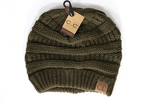 Crane Clothing Co. Women's Classic CC Beanies One Size Army