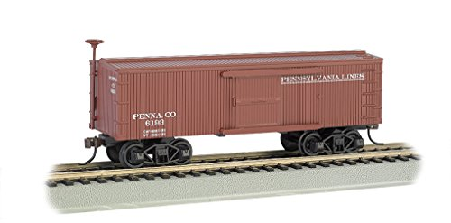 (Bachmann Old-Time Box Car-Pennsylvania Lines N Scale, Prototypical Oxide Red)