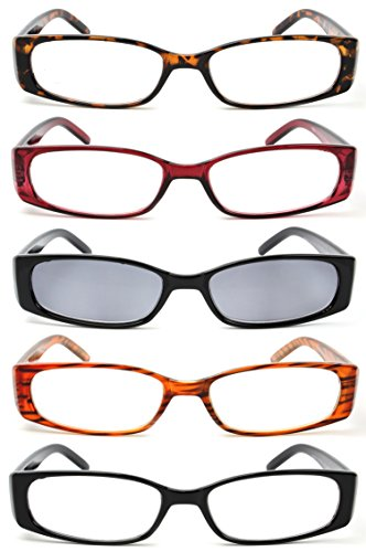 5-Pack Spring Hinge Reading Glasses Women Includes Sun Readers - How New Get Glasses Frames To