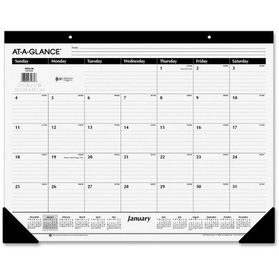 AAGSK3000 - 2010 Nonrefillable One-Color Monthly Desk Pad Calendar by At-A-Glance