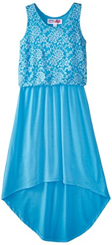 Derek Heart Big Girls' Lace-to-Chiffon High/Low Maxi Dress