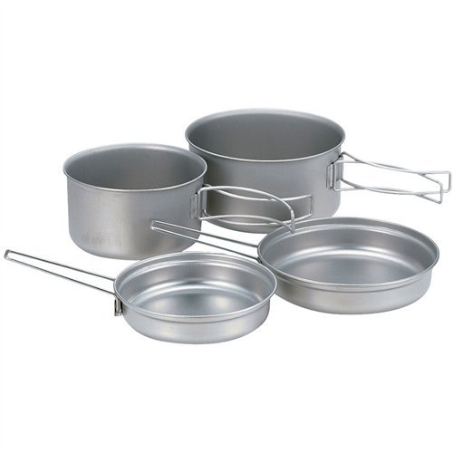 Snow Peak Multi Compact 4 Piece Titanium Cook Set