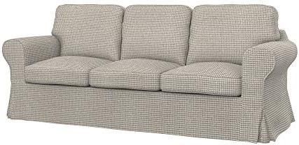 Soferia - Funda de Repuesto para sofá Cama IKEA EKTORP PIXBO de 3 plazas
