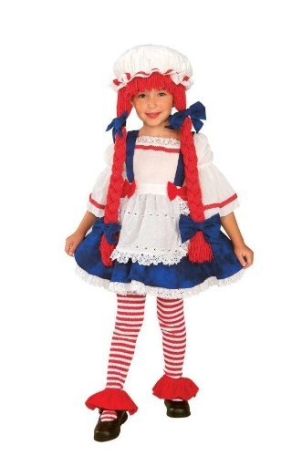 CoolGlow yarn babies rag doll girl toddler child costume As Shown -