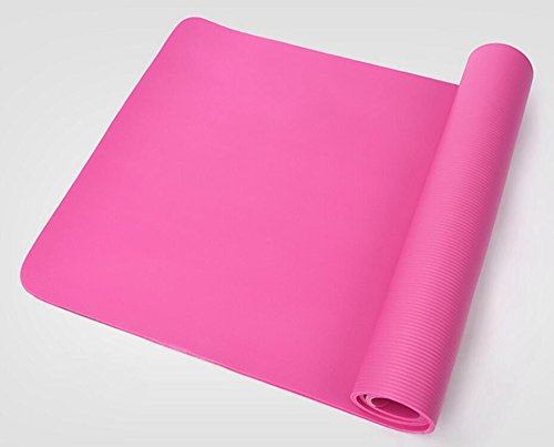 Pro Space Yoga Mat 1/2-Inch Extra Thick Exercise Mat All-Purpose with Carrying Strap (24''x71'') Pink