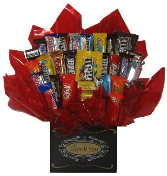 Chocolate Candy bouquet (Thank You Formal Gift Box) by So Sweet of You