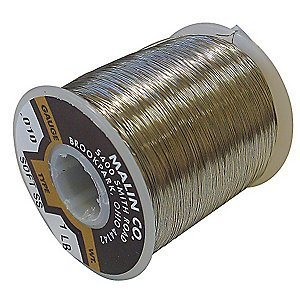 Malin Safety Wire / Lock Wire, Spool, 0.062 Dia, 96 Ft.