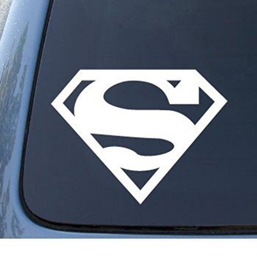 Superman Vinyl Decal Sticker - WHite | 5 X 4 In | CCI206 (Superman Decal)