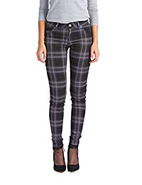 Suko Jeans Women's Plaid Skinny Jeans -Tartan Pants - Power Stretch Denim