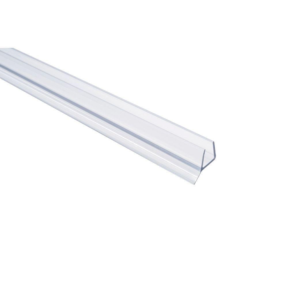 Showerdoordirect 36 in. Frameless Shower Door Seal with Wipe for 1/2 in. Glass in Clear by Showerdoordirect