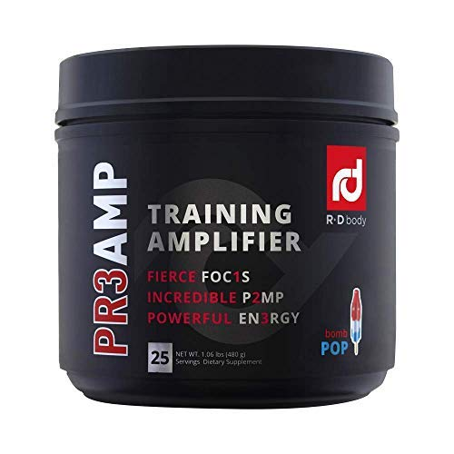 PR3AMP Pre Workout - The Best Pre Workout Supplement - Preworkout Training Amplifier - R+D Body Pre Workout (25 Servings) - Bomb Pop