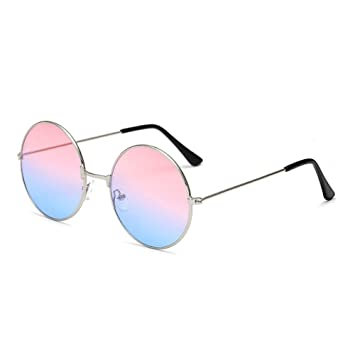 FSJCB Gafas De Sol Gafas De Sol Circulares De Metal Mujer ...