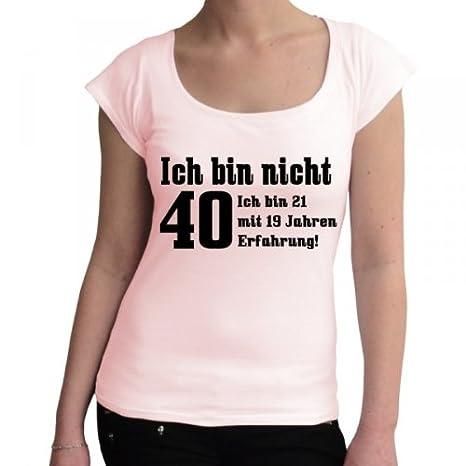 No estoy 40 Ich bin 21 con 19 años experiencia. Fun Camiseta ...