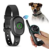Cheap OCEANTREE Dog Training Collar, Remote Control Rechargeable Waterproof Electric Shock Collar with w/3 Training Modes, Beep, Vibration Shock, Up to 1300FT/ 400M Remote Range (Black)