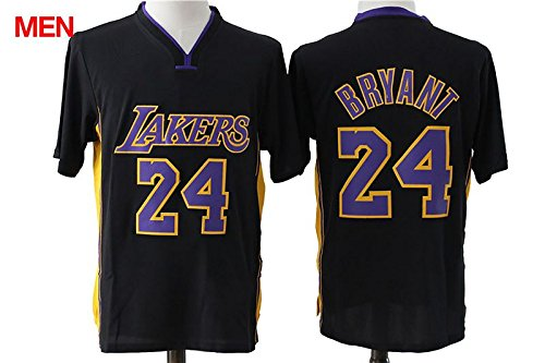 a4fc76a6adc ... High School Lower Merion 33 Bryant Basketball Jerseys Retired Los  Angeles Lakers Kobe Bryant 24 Black Short Sleeve Stitched Jersey Mens XXL  Amazon.com ...