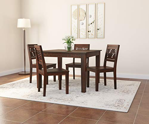 Induscraft Solid Wood Max Murano 4 Seater Dining Set