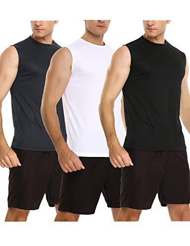 Sykooria Heren tanktop mouwloos T-shirt ademend sneldrogend vest tops comfortabel vest voor sport training hardlopen gym…