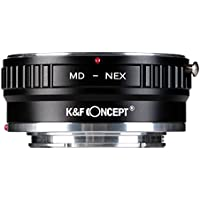 Lens Mount Adapter K&F Concept Copper Adapter for Minolta MD MC Lens to Sony NEX E-Mount Camera,fits Sony NEX-3 NEX-3C NEX-5 NEX-5C NEX-5N NEX-5R NEX-6 NEX-7 NEX-F3 NEX-VG10 VG20