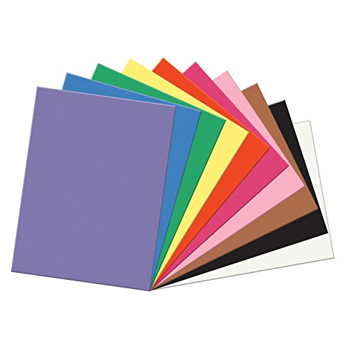 Pacon SunWorks Construction Paper, 9-Inches by 12-Inches, 100-Count, Assorted (6504)