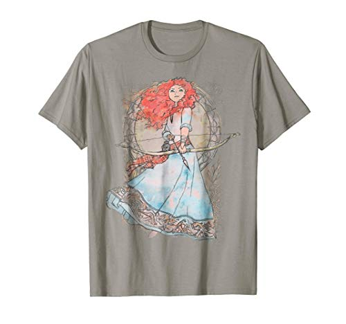 - Disney Brave Merida Watercolor Nouveau Graphic T-Shirt