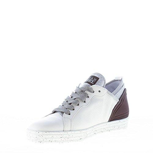 Shoes White Fabric Leather Hogan White Women Silver Glitter Sneaker Black R141 S5zzvqw