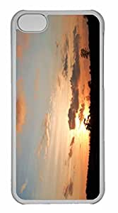iPhone 5C Case, Personalized Custom Sunset In Wolfheze Netherlands for iPhone 5C PC Clear Case