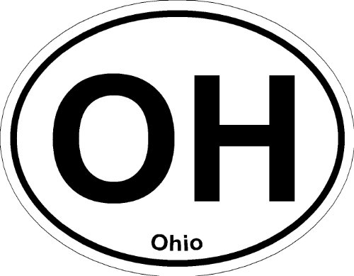 Oval (Ohio); State Bumper Sticker - Ohio Sticker Bumper