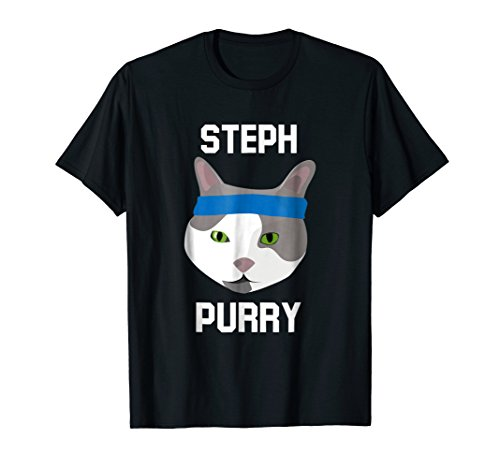 Steph Purry Cat Funny Basketball T-Shirt