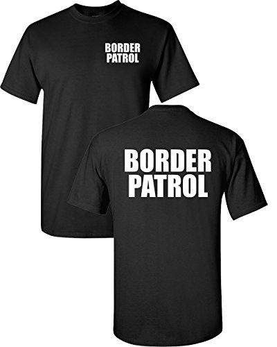All Things Apparel US Border Patrol Printed on Front & Back Mens T-Shirt