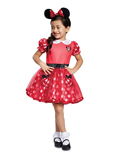 Disguise Red Minnie Mouse Infant Child Costume, Red, (6-12 Months) (Renewed) ()