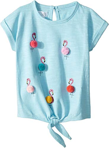 (Mud Pie Baby Girl's Flamingo Tees (Infant/Toddler) Blue MD (2T-3T Toddler))