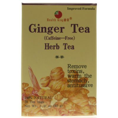 (Health King Ginger Herb Tea, Teabags - 20-Count Box, 4 pack by HEALTH KING MEDICINAL TEAS)