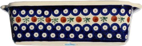 2.75 Width Deep 9 Polish Pottery Loaf Baker with Handles From Zaklady Ceramiczne Boleslawiec #1381-41 5 Length